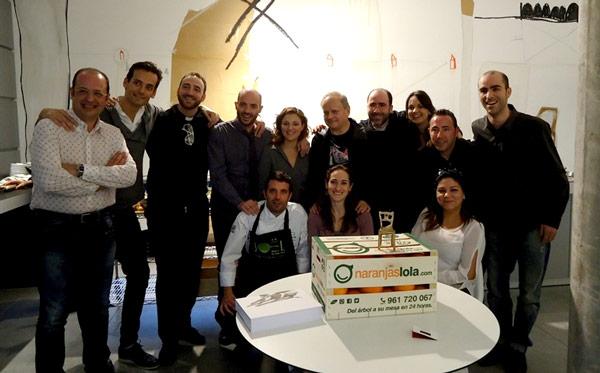 Joël Robuchon en España con Naranjas Lola