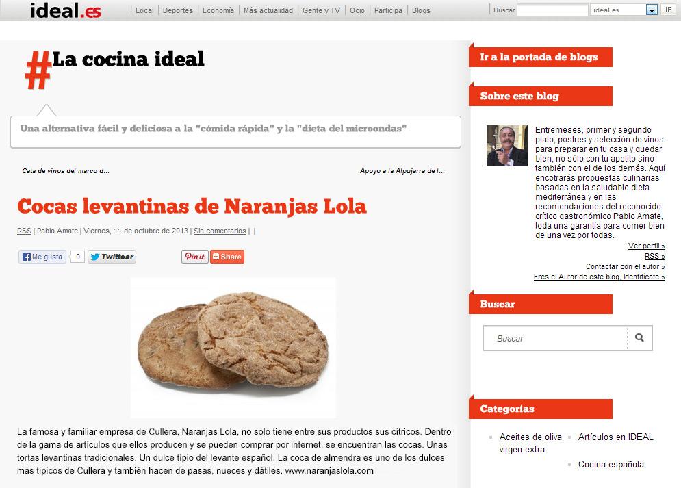 Blog de naranjas lola noticias novedades consejos recetas for Blog cocina wordpress