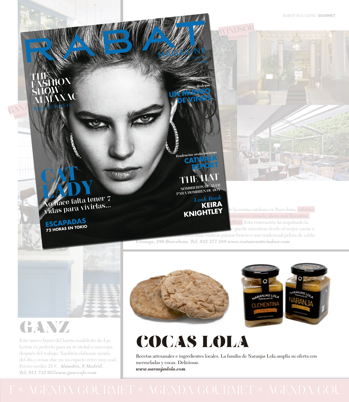 Naranjas Lola en la agenda gourmet de la revista Rabat Magazine