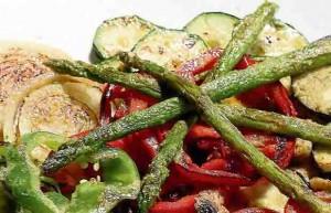 Parrillada vegetal con Tomates Valencianos Naranjas Lola