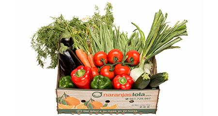 Caja verduras
